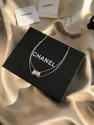 全新轉賣  Chanel coco crush項鍊 18K白金 菱格紋圖騰