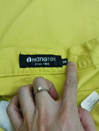 HANG TEN 36腰褲子黃色