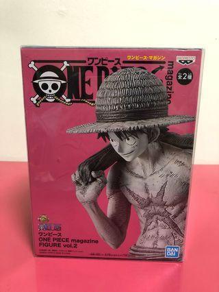 <<日版  金證>>  海賊王 ONE PIECE  magazine figure vol.2  魯夫  異色  黑白