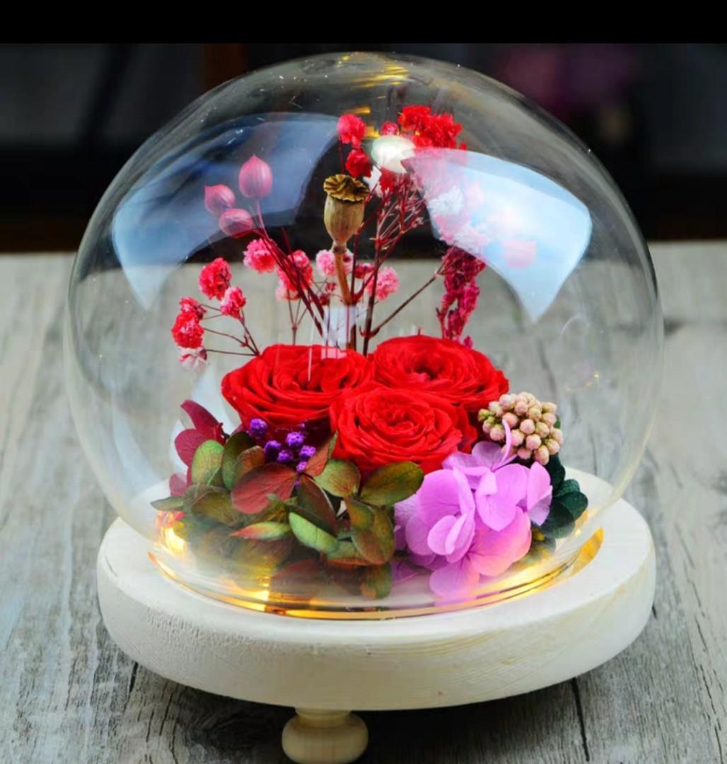 永生花水晶球