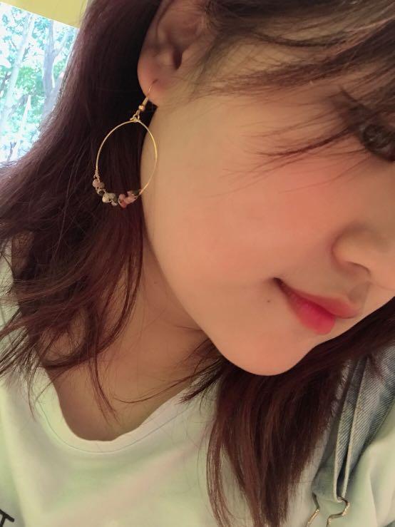 彩色碧璽耳環