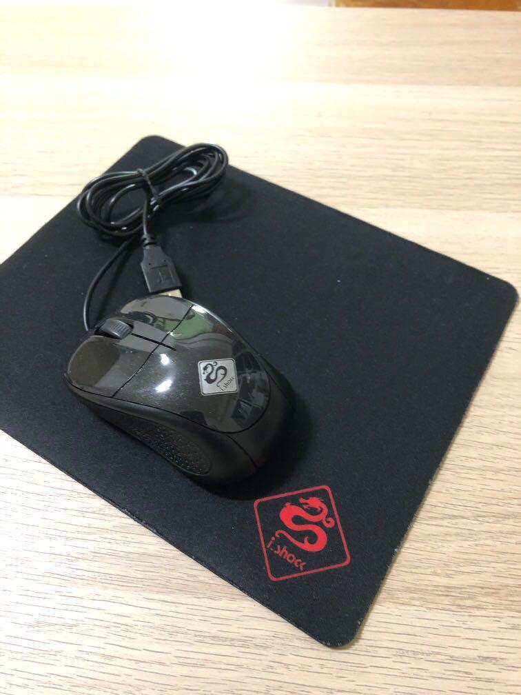 雷蛇 光學滑鼠+滑鼠墊