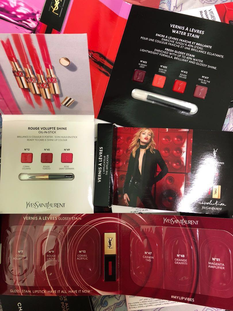 多圖 [試用裝] 唇膏 Ysl / chanel / dior/ Armani / nars / Charlotte tilbury / givenchy  / by terry / mac / pola / covermark / kanebo / canmake / shiseido / Clarins / cle de peau / urban Decay /  Lancome / Lancôme / make Up Forever / Guerlain Lip lipstick sample