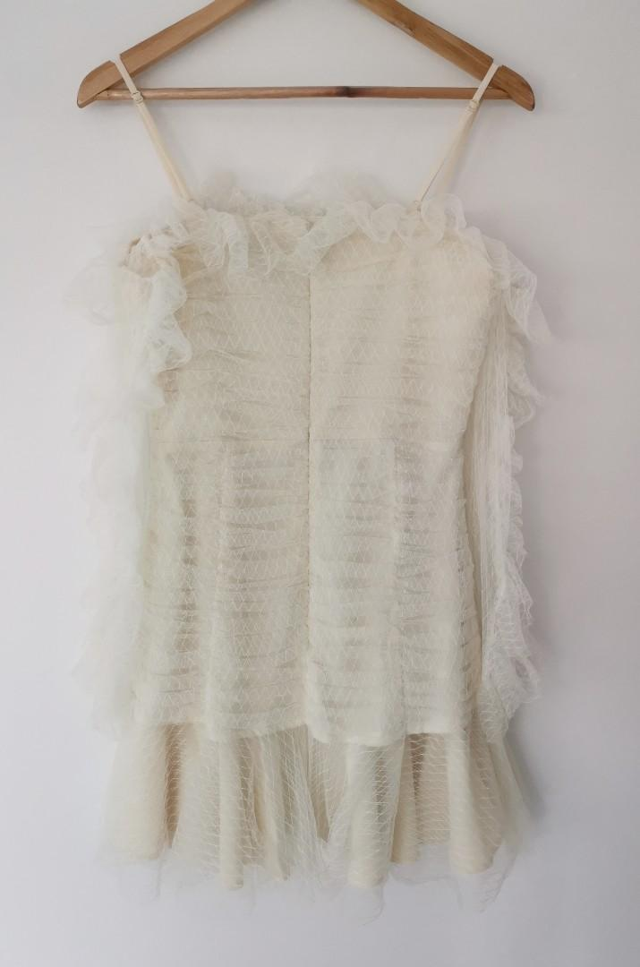 Alice Mccall All Things Nice Dress in French Vanilla - Size 12 RRP $390