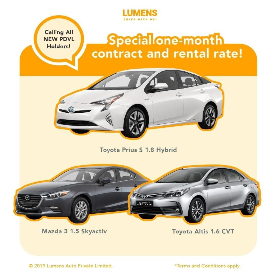 ALL NEW PDVL DRIVER!!! SPECIAL ONE-MONTH CONTRACT AND RENTAL RATE