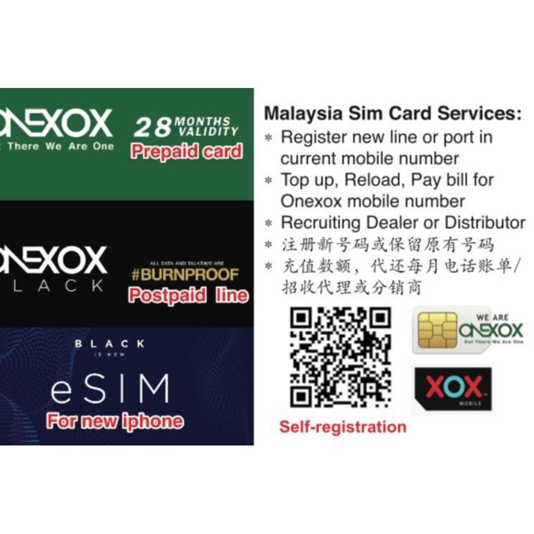AMK  CCK WDL Malaysia prepaid SIM card TOP up onexox celcom