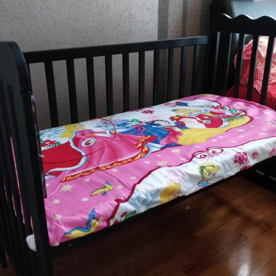 Baby crib pure teak wood