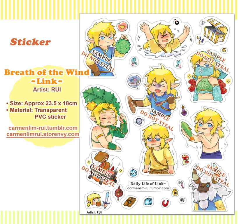 Breath of The Wild - Link's Daily Life PVC sticker
