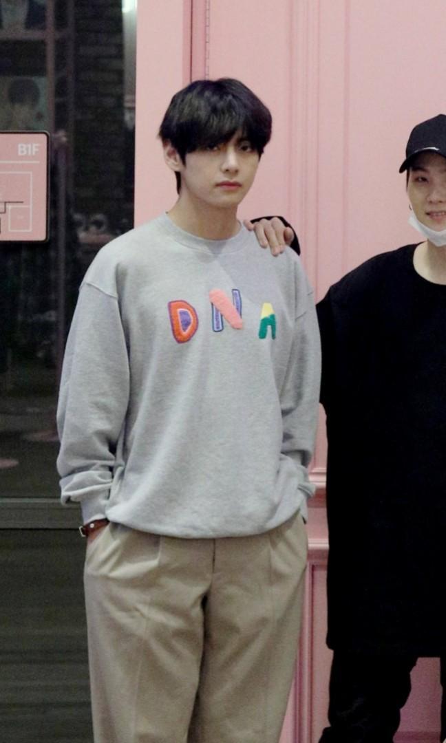 BTS Seoul Pop-up Store Taehyung's DNA Sweatshirt HELP BUY 泰亨同款DNA長袖上衣快閃店代購