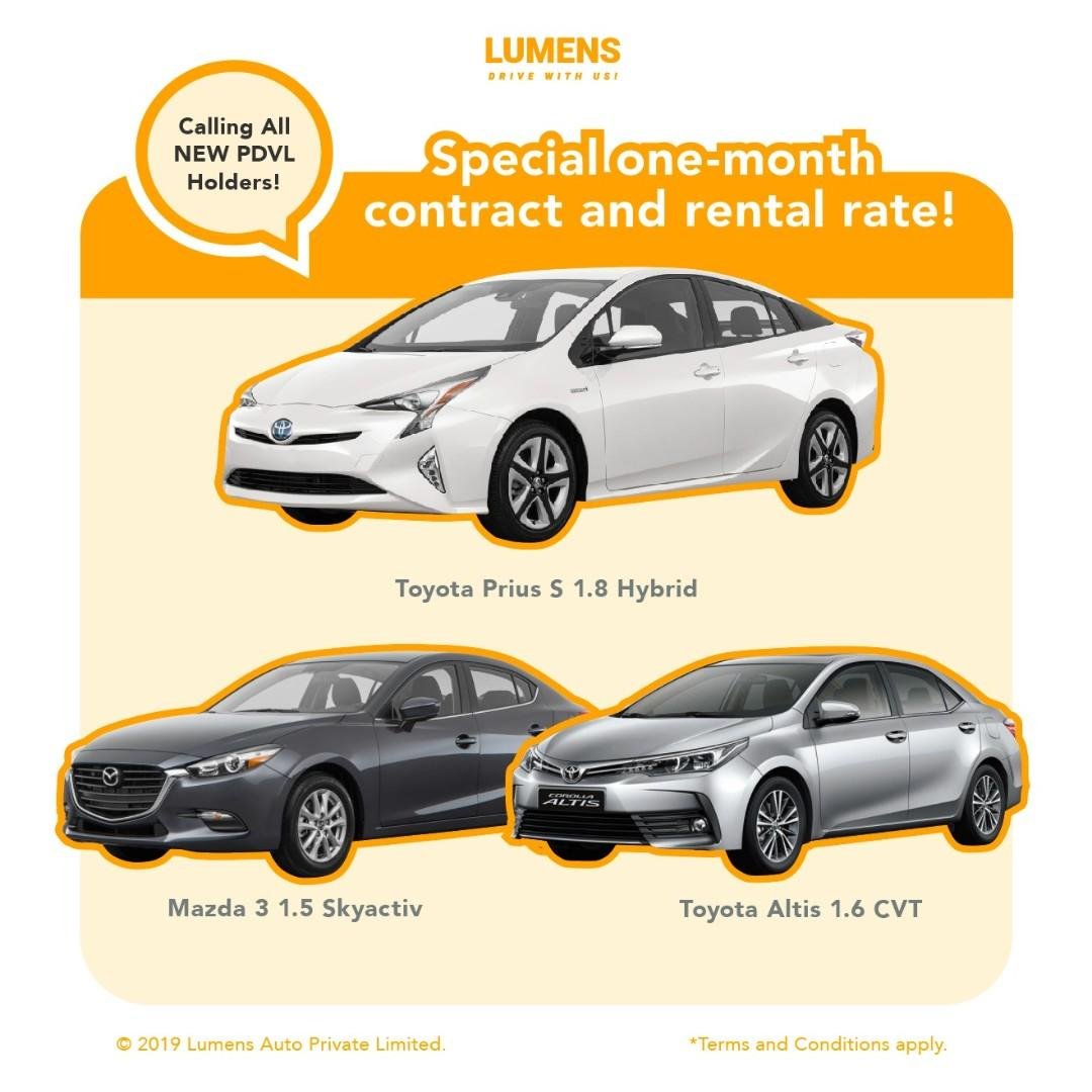 CALLING ALL NEW PDVL DRIVER!!! SPECIAL ONE-MONTH CONTRACT AND RENTAL RATE