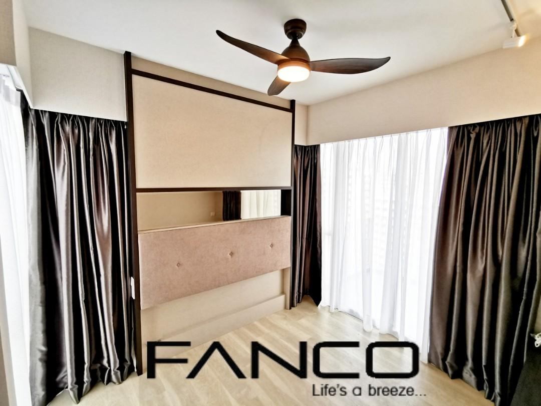 Ceiling Fan DC 5 Speed with LED light