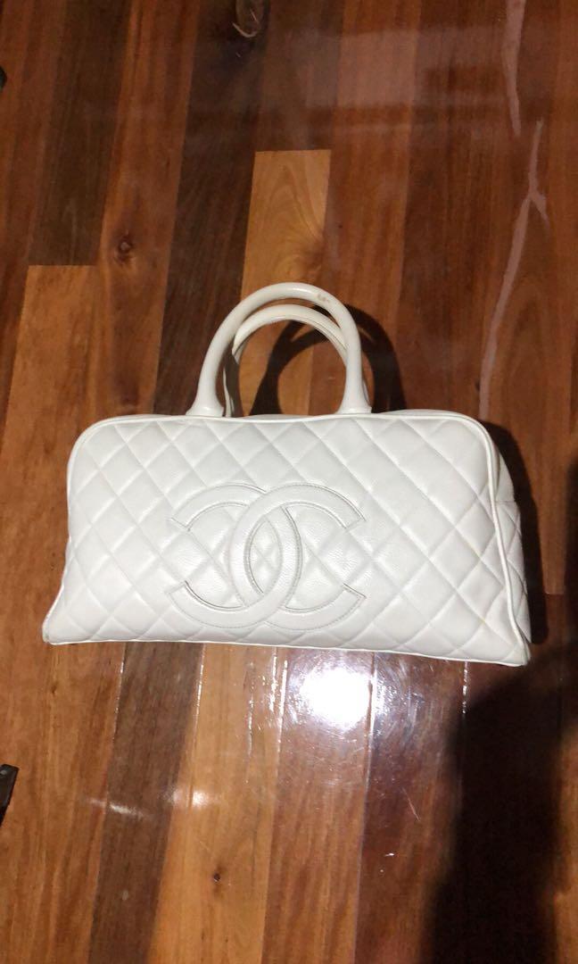 Chanel caviar bowling bag