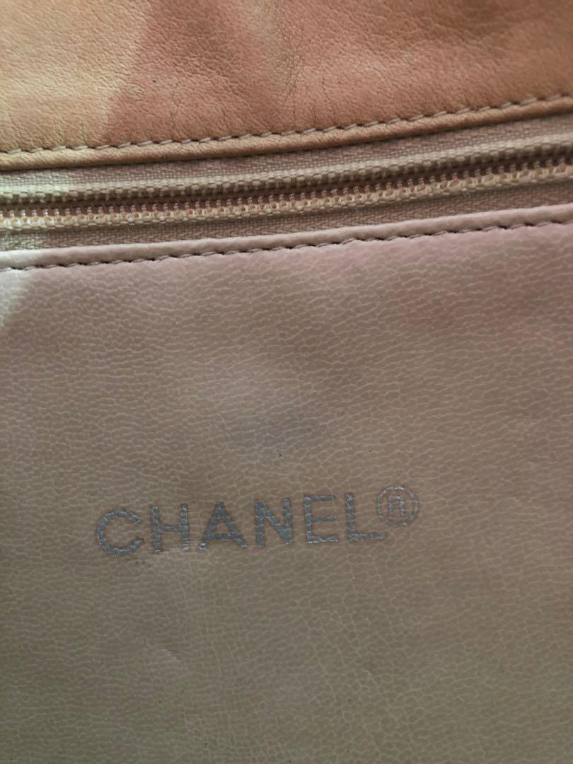 Chanel lambskin tote bag