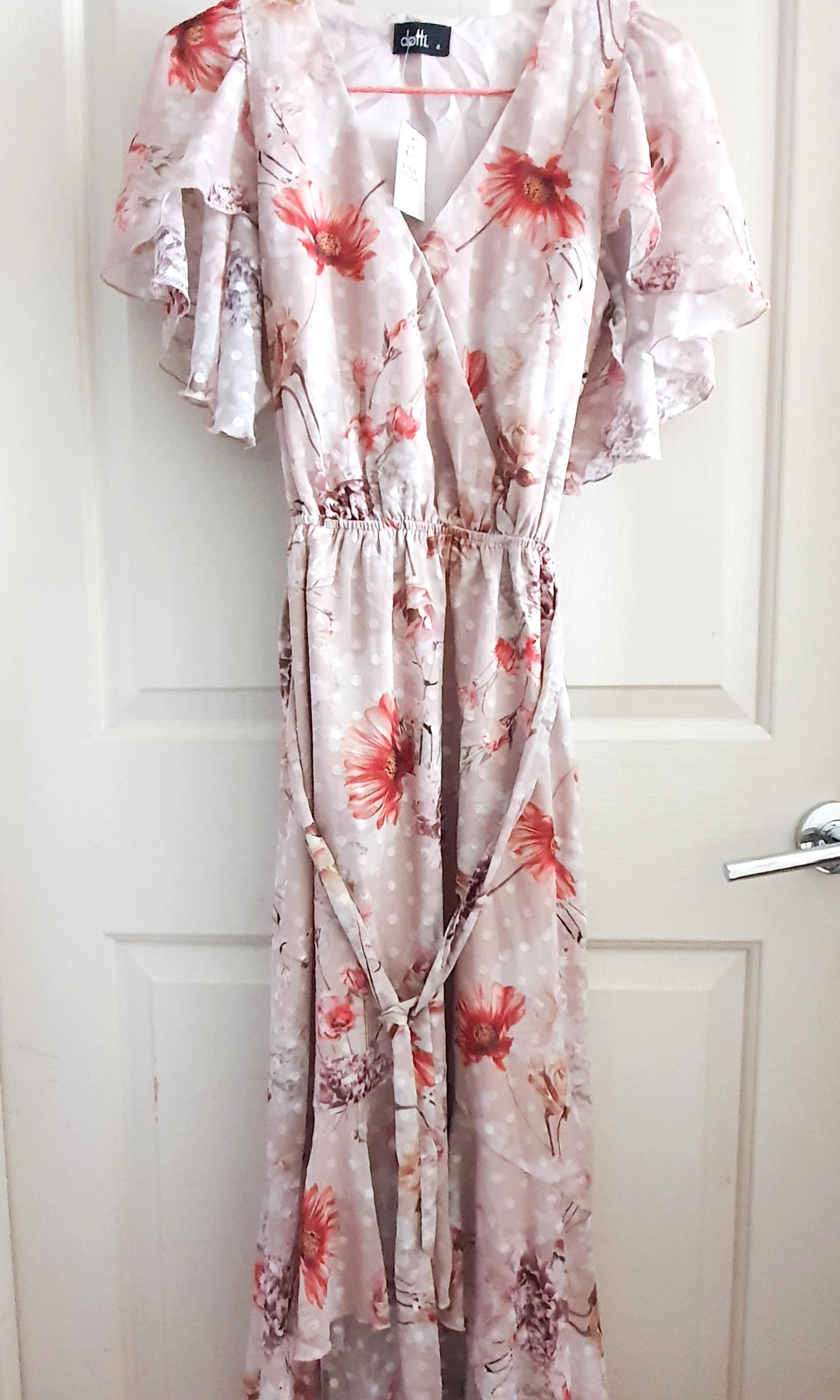 Dotti floral high low maxi dress