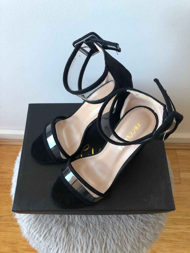 Freelance Size 36/6 Black Parklane Style Black Block Heels