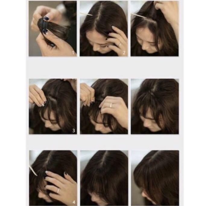 Hairclip Poni rambut palsu clip on