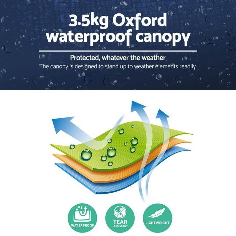 Instahut 3x3m Pop Up Gazebo Replacement Roof Outdoor Wedding Tent Garden Marquee Navy