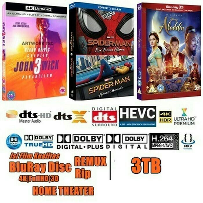Jual / isi film HD 3TB kualitas BluRay Disc REMUX,  rip,  WEBRip