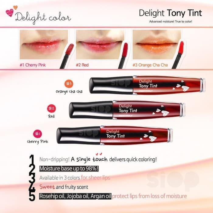 Lip Tint Tony Moly Delight Tint Liptint 9ml - Orange Cha Cha