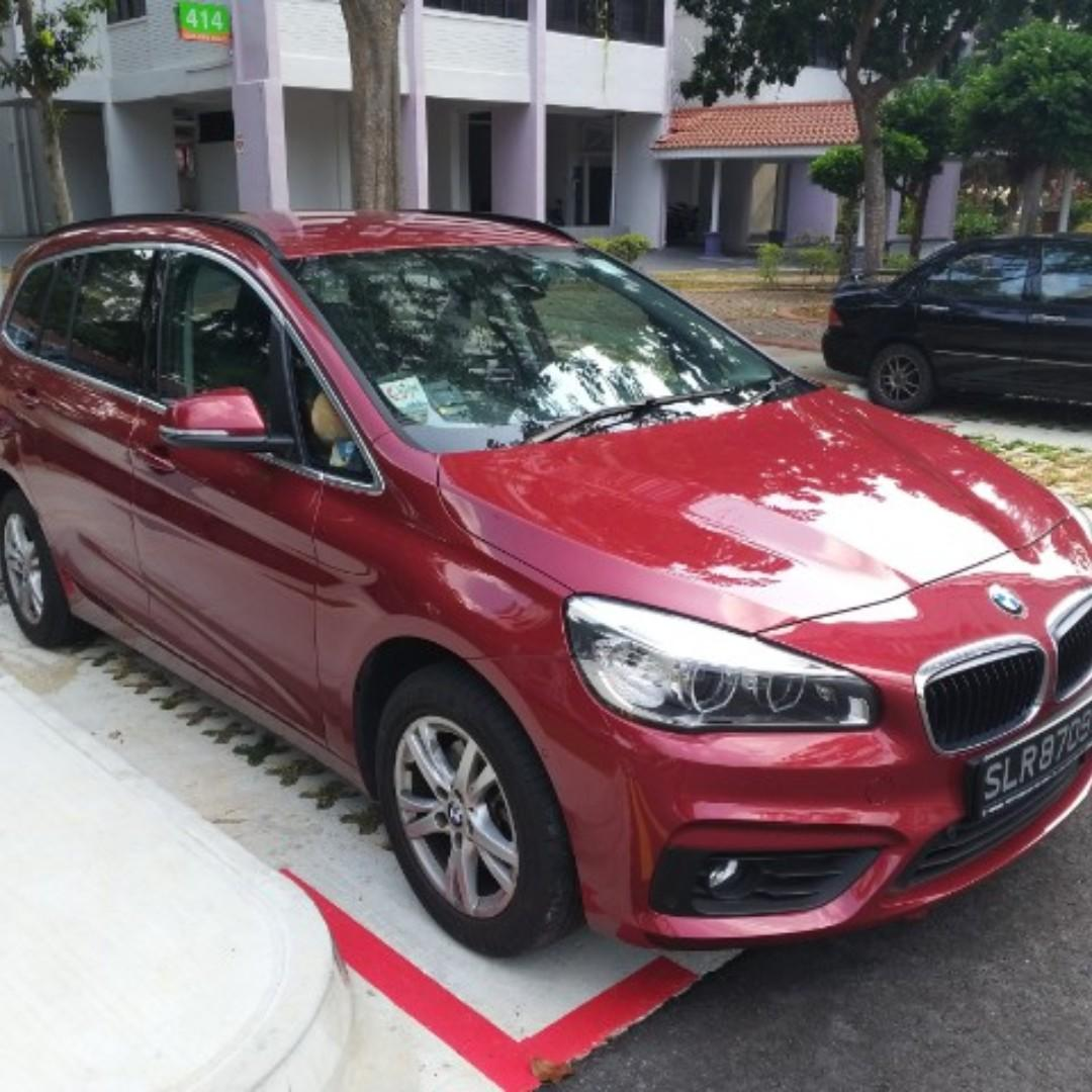 Low Mileage 7 seater BMW 216i for lease ( 3 years)