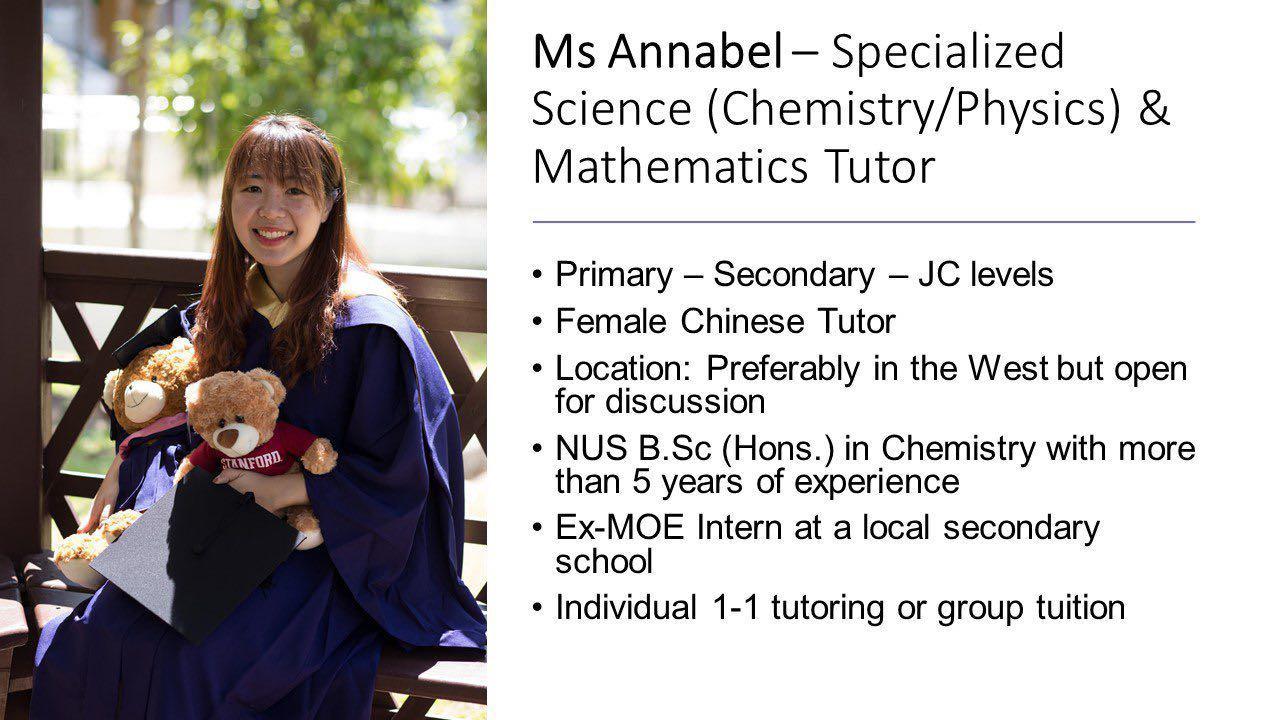 Maths & Science (Chemistry/Physics) Home Tutor