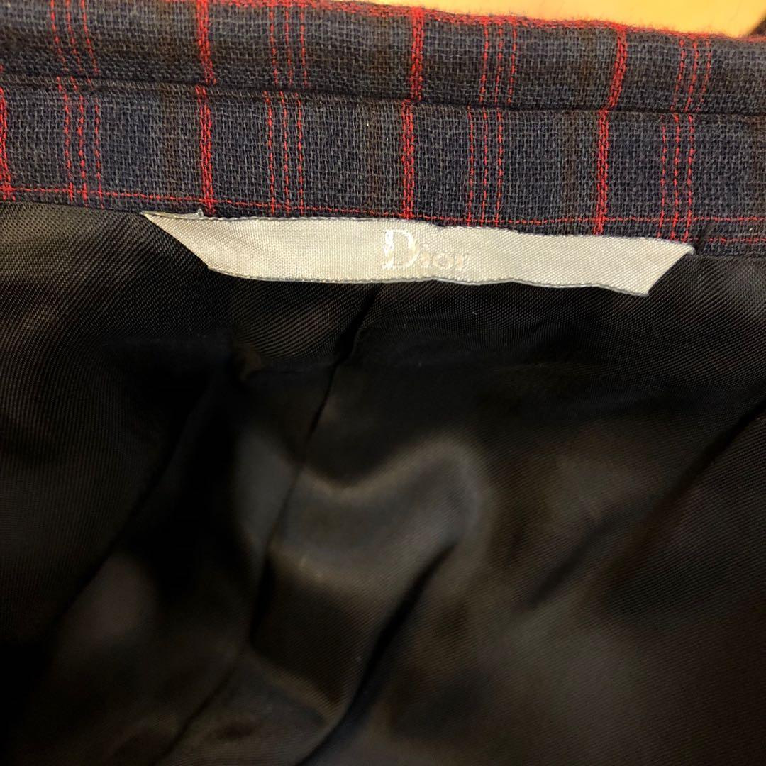 Men Dior black with red checkers jacket size 50