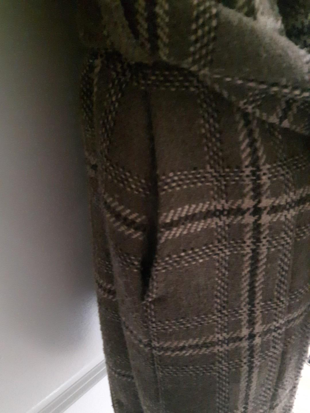 LOWERED-Peacoat in ashy brown plaid pattern Size 4