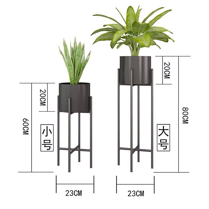 Plant Stand Cylinder Gold Vase With Stand Modern Flower Pot Nordic Style