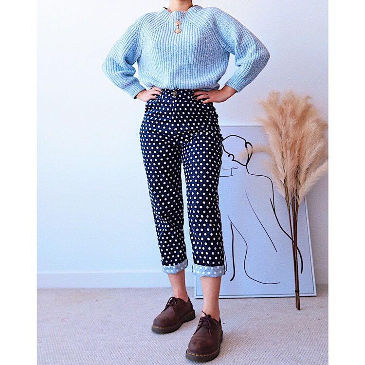 Polka dot trousers   Brand : Runawaythelabel  Good condition  High waisted design Slightly stretchy - very comfortable to wear :)