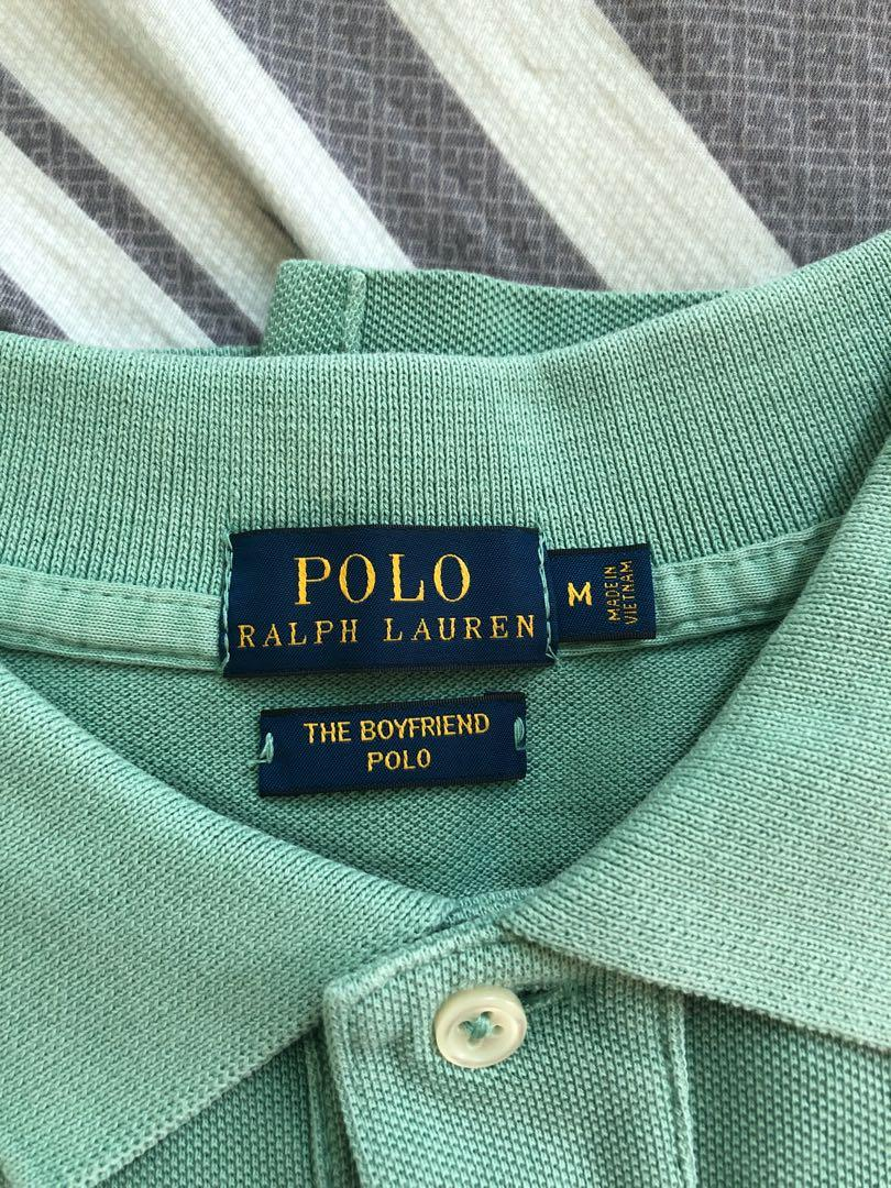 Polo 女裝Tee size::M淺綠色