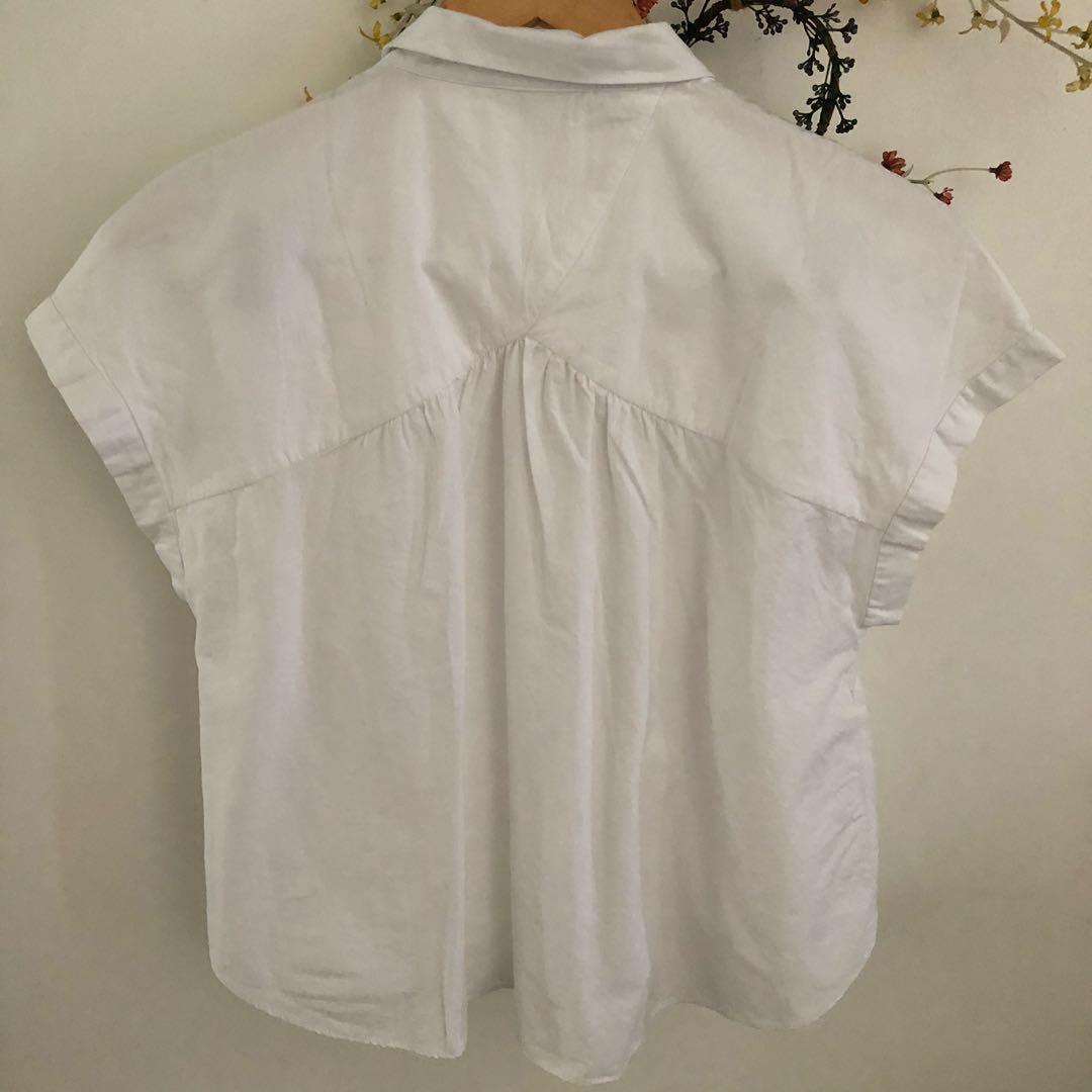 Preloved Original Zara White Blouse