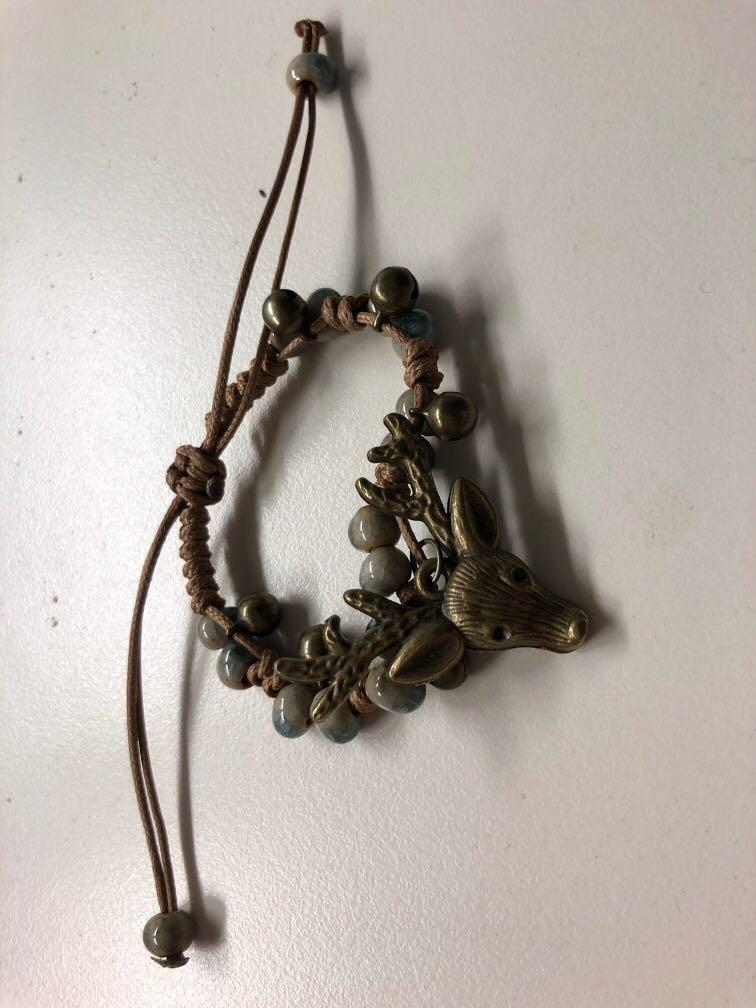 Reindeer Bracelet + leaves flowers bracelet 2 for 5!!