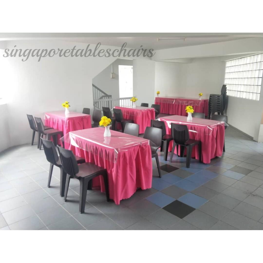 [Rent] Tables and Chairs Rent Rental Cheap Deliver Setup Event Function Wedding Birthday Party Flee Market Roadshow Kenduri Buffet BBQ Barbecue Barbeque Rental Open House Celebration 47