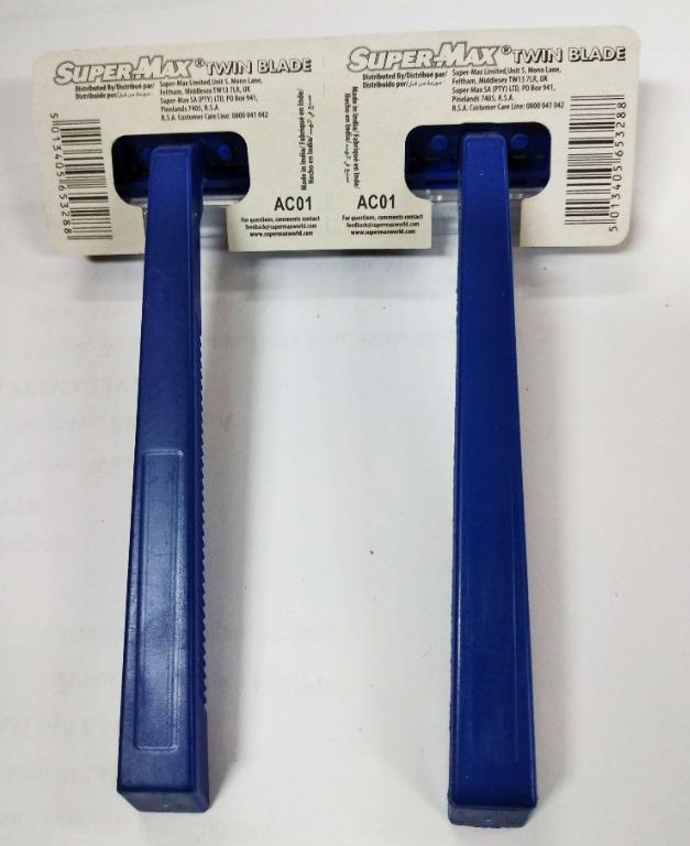 SuperMax Twin Blade- Alat Cukur & Silet (1 BOX= 2 Hanger = 48 Pcs) (DIJAMIN ORIGINAL & BERKUALITAS)