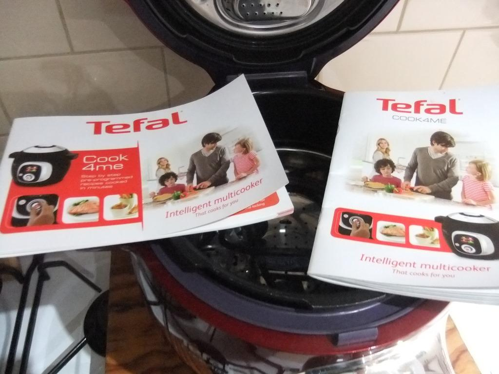 TEFAL COOK 4 ME RED PRESSURE COOKER USED COND ALL BOOKS RECIPES INSTRUCTIONS PICKUP ONLY