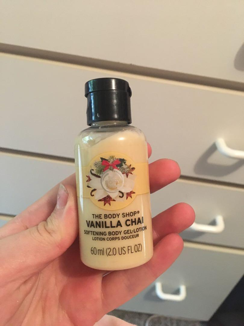 The body shop limited edition vanilla chai shower cream