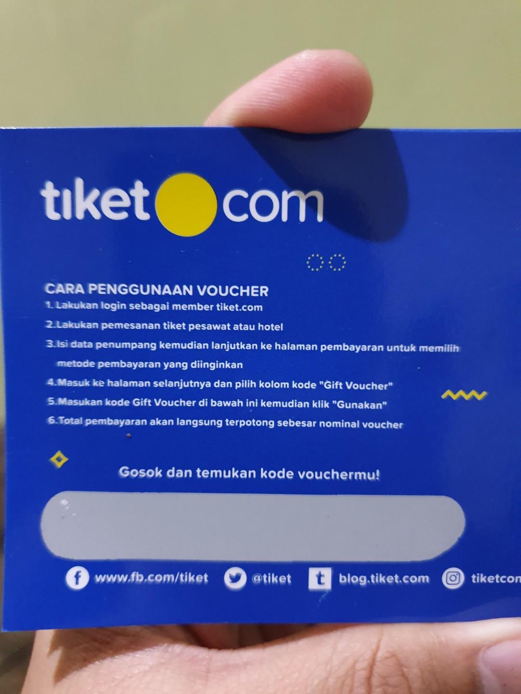 Voucher Tiket(dot)com untuk Pesawat Citilink atau Hotel