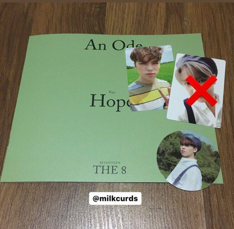 [WTT/WTS] Seventeen An Ode Hope Ver. PC & Sticker & Mini photobook