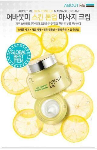 韓國ABOUT ME檸檬排毒明亮按摩霜(正品)