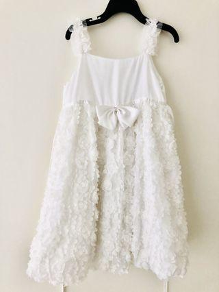 安妮公主白色洋裝(110)