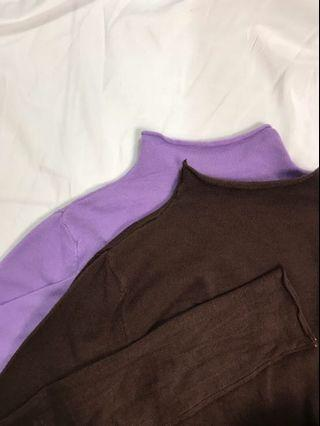 半高領軟綿針織衫