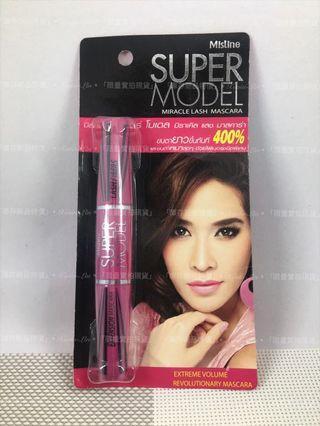 泰國 Mistine Super Model 4D二合一 濃密雙頭睫毛膏 5.5g
