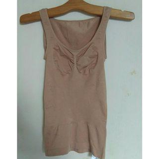 #Diskonokt Brown Top /singlet uniqlo/underwear uniqlo original/tanktop uniqlo/baju senam uniqlo