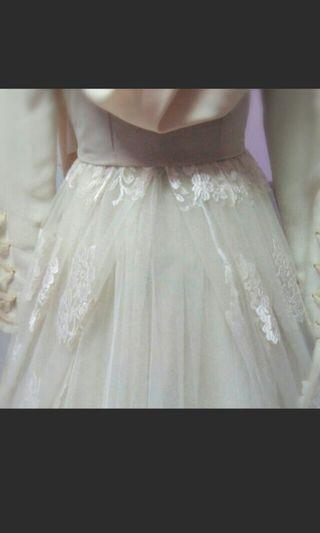 (CAN NEGO) Wedding dress white