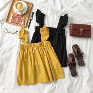 黃色)荷葉娃娃背心