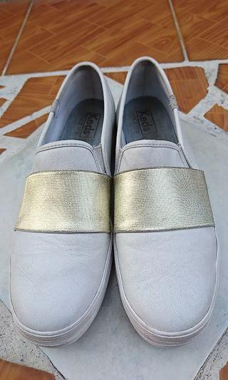 Nego Keds Triple white leather list gold