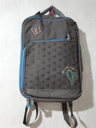 Tas Ransel Baby blue and grey