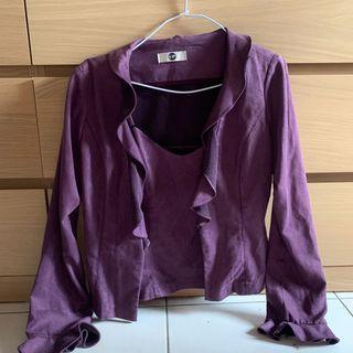紫色上衣套裝組(兩件不拆售)