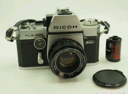 1970s 理光 Ricoh TLS   401   眼平/腰平  單眼相機   +  Cosinon 1.8/50  鏡頭  二手絕美機
