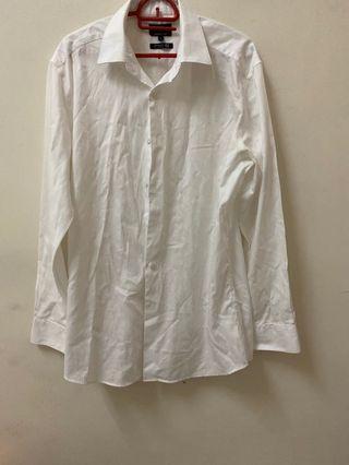 G2000 smart fit men white long sleeve formal shirt